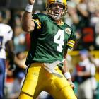 Favre has defined toughness and production, from his consecutive start streak to his three MVP awards and 11 Pro Bowl selections. He led the Packers to seven division championships, four title games and two Super Bowls, including a win in Super Bowl XXXI. Last season Favre became the first quarterback to win a playoff game at the age of 40 in leading Minnesota to the NFC Championship Game.  Runner-up: Tuffy Leemans  Worthy of consideration: John Kasay, Ernie Nevers, Reggie Roby, Adam Vinatieri