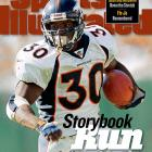 The initials (T.D.) fit: Davis ran for a franchise-best 7,607 rushing yards and 60 touchdowns during his eight seasons in Denver. He was the NFL MVP in 1998 and helped lead the Broncos to a pair of Super Bowl titles.     Runner-up: Bill Willis  Worthy of consideration: Ahman Green, Lawrence McCutcheon, Brian Mitchell, Mark Van Eeghen