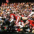 An All-Pro free safety who intimidated wide receivers with his bone-crushing hits, Lott won four Super Bowls with the San  Francisco 49ers. He earned All-Pro honors at three positions (cornerback, free safety, strong safety).    Runner-up: Sid Luckman  Worthy of consideration: Ricky Bell, Charlie Conerly, Dick Hoak, Chuck Muncie, Gerald Riggs, Charley Taylor, Paul Warfield, Chris Warren