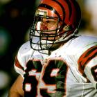 Krumrie was an underrated force on the defensive line for the Bengals during the `80s. He played in two Pro Bowls (1987, 1988).  Runner-up: Will Wolford  Worthy of consideration: Jared Allen (Vikings), Woody Peoples, and Mark Schlereth