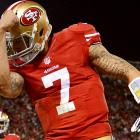 Colin Kaepernick rose to stardom with his record-setting 181-yard rushing game against the Green Bay Packers in the San Francisco 49ers quarterback's first career postseason start. So of course a trend to commemorate his newly found celebrity quickly followed. The heavily-tattoed Kaepernick kisses a tattoo on his right bicep, a move that launched imitations from 49ers faithful during the team's 2013 postseason run. San Francisco came up one demonstration of the move short in Super Bowl XLVII.