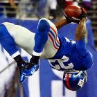 The New York Giants running back demonstrated his athleticism by performing a backflip in the end zone after his touchdowns. Although Wilson has been backflipping since he was three, the Giants -- after Ahmad Bradshaw was slowed by an injury -- asked him to spare them a heart attack and stop the flipping. Wilson complied for the remainder of 2012 and may be grounded from here on out.