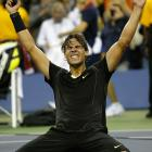 For the third straight year, the men's final was pushed to Monday. All it meant was one more day for Rafael Nadal to wait to get his career Grand Slam. No. 1 Nadal beat No. 3 Novak Djokovic 6-4, 5-7, 6-4, 6-2 to win his first U.S. Open and ninth overall major title. He became the seventh man to win the career Grand Slam and has a chance at a Rafa Slam, winning four straight majors (though not in a calendar year), at the 2011 Australian Open.
