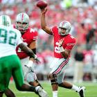 Last Week: 17-of-23, 247 yards, three TDs; eight rushes, 17 yards in a 45-7 win over Marshall  After we spent the offseason debating whether he could pick up where he left off in the Rose Bowl, Pryor showed poise in the pocket against Marshall, going through his progressions instead of bailing on a play and running like the past. He did try and force two deep balls, both of which could have been picked. Marshall rarely tested him, but Ohio State should be pleased with Pryor's maturity level heading into a duel with Miami's Jacory Harris.  Next Up: Saturday vs. Miami