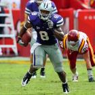 """Last Week:  34 rushes for 181 yards and two TDs in 27-20 win over Iowa State.   Season:  83 rushes for 552 yards and six TDs; two receptions for 15 yards.  Thomas carried the ball 34 times vs. the Cyclones, while K-State attempted all of 12 passes.  Bill Snyder  basically said,  """"This is what we're going to do. Try and stop it.""""  Thomas has come through, but you do have to wonder how much of this he can take. The 6-foot-2, 228-pounder is on pace for a career-high 332 carries after running 247 times last year; and he played the second half of '09 with a shoulder injury.   Next Up:  Saturday vs. UCF"""