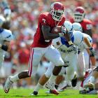 Last Week:  26 rushes for 110 yards and two TDs; five receptions for 38 yards and one TD in 27-24 win over Air Force.   Season:  77 rushes for 369 yards and six TDs; nine receptions for 90 yards and one TD.  Another week, another change in the Sooners' representative in the Watch. With QB  Landry Jones  an up-and-down 26-of-42 passing, Murray was again the workhorse with a combined 148 yards and three TDs. It was the second time in three games that Murray took the Sooners off upset watch. Jones could steal the spotlight with another monster game, but Murray is emerging as Oklahoma's prime candidate due to his reliability.   Next Up:  Saturday at Cincinnati