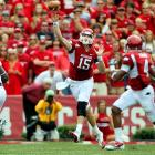 Last Week:  25-of-38 passing for 357 yards, one TD and three INTs; three rushes for minus-7 yards and one TD in 24-20 loss to Alabama   Season:  95-of-138 passing for 1,438 yards, 10 TDs and five INTs; 14 rushes for minus-10 yards and two TDs; one punt for 43 yards  There's no way around it: Mallett had a chance to seize the lead in the Heisman race and failed. The Razorbacks had the No. 1 team in the nation on the ropes, but he threw two fourth-quarter interceptions and tossed a career-high three picks. He's not out of the running following his third straight game with at least 300 yards, but he has some serious work to do.   Next:  Sat., Oct. 9 vs. Texas A&M
