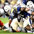 Jacory Harris and the offense had little trouble scoring on Pitt, but Miami won this contest with shut-down defense. The Hurricanes had five sacks, nine tackles for loss and forced three turnovers while holding Pitt quarterback Tino Sunseri to 61 passing yards and running back Dion Lewis to 41 rushing yards.