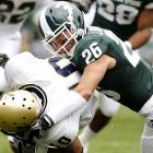 The Spartans cruised to an easy victory, which was just what they needed after a stressful week in which head coach Mark Dantonio suffered a mild heart attack just hours after the team's stunning overtime win over Notre Dame. Danotonio reportedly watched the game from home.