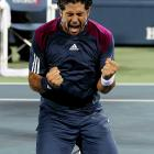 The ebullient Spaniard celebrated his hair-raising victory over countryman David Ferrer at the U.S. Open on Sept. 7. Apparently, Senor Verdasco didn't use a racquet.