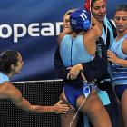 We never paid much attention in history class, but we seem to recall something about the Greeks inventing the buttslap sometime around the first Olympics in 776 B.C. After defeating the Italians in Zagreb 2,786 years later, they're still at it.