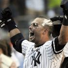 The Yankees slugger clearly needs to take a remedial course in how to shave.