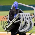 """The Bonzo Dog Band once posed the musical question, """"Can blue men sing the whites?"""" Fans at the Ballpark in Arlington got the answer during the National Anthem before the Rangers took on the Yankees on Sept. 10."""