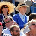 The erstwhile Dr. Fronkensteen was seen puttin' on the ritz as well as a fancy hat at the U.S. Open tennis tournament.