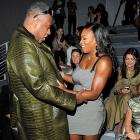 Vogue's aptly-titled Editor at Large invited the tennis star to get a feel for the latest in alligator leisurewear at the Vera Wang Spring 2011 fashion show at New York's Lincoln Center on Sept. 14.