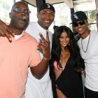 As Shin Shin sported what looks suspiciously like a swimsuit under her wrap, the renowned rap Artest joined in the gesticulatin' at the Pre-Video Music Awards Summer Soiree presented by Def Jam Rapstar and Kodak on Sept. 11 in Brentwood, Calif.