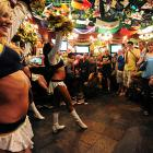 One wonders what the ladies were doing at a watering hole in Beijing when their team was busy opening the NFL season in Kansas City.