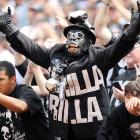 The Raiders may have had trouble beating even the Oakmont Old Ladies Home in recent years, but fans in Oakland are still going ape for the silver and black.