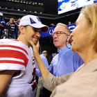After getting his keister handed to him by big brother Peyton and the mean old Colts in Indianapolis on Sept. 19, Eli was consoled by his mom and pop. No word on what they told him after he got his keister handed to him by the Tennessee Titans on Sunday.