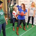 The popular TV personality, and wife of ex-NFL signal-caller Tim, showed in-the-family-way ladies the proper technique for hiking a tot and avoiding the blitz at Reebok NFL's Maternity Tee Belly Bowl in New York City. No word if Rex Ryan attended.