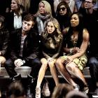 (L-R) Alexa Chung, model Douglas Booth, starlet Sarah Jessica Parker, and tennis icons Serena Williams and Andy Murray were clearly transfixed by the glad rags on display in London, England.