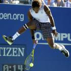 Gael Monfils of France plays against Novak Djokovic of Serbia during their Sept. 8 U.S. Open match at the USTA Billie Jean King National Tennis Center in New York.  Djokovic defeated Monfils 7-6, 6-1, 6-2 .