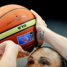 Australia's Tully Bevilaqua on the free-throw line during her team's 83-59 win over Belarus at the FIBA World Championship on Sept. 24 in Ostrava, Czech Republic.