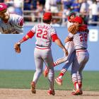 The 1985 NLCS was one to forget for Dodgers reliever Tom Niedenfuer.  After surrendering a dramatic walk-off home run to St. Louis Cardinals shortstop Ozzie Smith in Game 5, Niedenfuer stared down Jack Clark with two men on in the top of the ninth in an attempt to close out Game 6.  Clark pounded Niedenfuer's fastball deep into the Los Angeles bleachers, giving the Redbirds a lead they would not relinquish, as St. Louis won its second NL pennant in four years.
