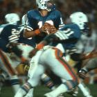 "Want to compare and contrast the greatness of Bob Griese and Dan Marino? Strock could do it for you. He backed up both of them. Over a 15-year NFL career, Strock also backed up David Woodley in the famed ""WoodStrock"" era. He ended his career backing up a young Bernie Kosar in Cleveland. For his career, Strock always could be counted upon to step in when needed, throwing for 45 TDs in a backup role that saw him start more than four games just once over a 15-year career"