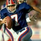 He may have been a popular local legend when he wound up with the Pats early in his career. He may have been a superstar in Canada. He may have had a nice four-year stretch as a beloved Bills starter late in his career. But despite his flair and popularity, with the big boys in the NFL Flutie was a reliable backup who churned out decent numbers when called upon.