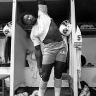 Tampa Bay Buccaneers defensive end Lee Roy Selmon stretches before a Week 8 game against the San Francisco 49ers. The Bucs first draft pick in 1976, Selmon compiled 78 1/2 sacks over his professional career. Though he didn't have any in this one, Tampa Bay beat San Francisco 24-23.