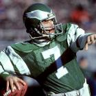 Philadelphia Eagles quarterback Ron Jaworski loosens up before one of his 16 starts during the 1980 season. Jaworski started 116 consecutive games for the Eagles between 1977-1984, a mark that has only been eclipsed by Brett Favre and Peyton Manning.