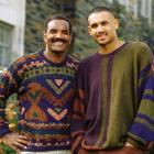 Grant's father, Calvin Hill, graduated from Yale and went on to become a three-time All-Pro running back for the Dallas Cowboys. Here they are donning similar Cosby sweaters on Duke's campus in 1993.