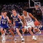 In 1992, he and the Blue Devils picked up a second straight NCAA title with a 71-51 win over Michigan in the final. Earlier in the tournament, Hill played a big part in what many consider to be the greatest NCAA game of all time: His long inbound pass led to Christian Laettner's game-winning, buzzer-beating jumper in Duke's 104-103 overtime victory against Kentucky.