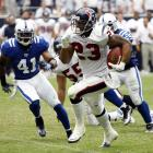 Second-year running back Arian Foster set a Houston Texans record - and almost an NFL record - with a 231-yard field day against a suspect Indianapolis Colts defense. Houston repeatedly fed Foster (33 carries), leading to huge chunks of yardage, three touchdowns on the ground and a Week 1 victory.