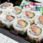 """""""It takes exactly like the sushi you'd get at your local supermarket. The rice is ridiculously cold. No sushi chef would ever serve it this way. It's been in that case for a couple hours, but it's not  bad . I normally try to shy away from raw fish at a sporting event, but these taste OK."""""""