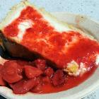 """""""Perfectly good cheesecake. Not inspired cheesecake, but good. And if any one person finished that slice, you'd be really full."""""""