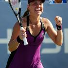 The 59th-ranked Kateryna Bondarenko, a surprise U.S. Open quarterfinalist last year, delivered the first major upset of the Open with a 6-2, 4-6, 2-6 win over Li Na on the tournament's second day. As Asia's top-ranked player and the highest Chinese seed in Grand Slam history, Li had reached the Australian Open semifinals earlier this year and won her third career WTA singles title at Birmingham in June