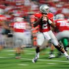 Did you ever have those moments when you're cool, calm and collected while everything around is coming at you 1,000,000 miles an hour? Terrelle Pryor did, completing 17-of-25 passes for 247 yards and three touchdowns as the Buckeyes cruised.