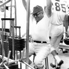 Lombardi works out during down time at the Redskins' training camp. He only spent one season as coach in Washington before being diagnosed with colon cancer in the summer of 1970. He died 10 weeks later at 57.