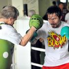 Pacquiao is entering the ninth year of a partnership with Freddie Roach (left), a four-time BWAA Trainer of the Year and one of the most respected corner men in the sport.
