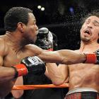 Margarito was one of boxing's ascendant superstars after winning the WBA welterweight title in July 2008. But a swift downfall began with his first title defense against Shane Mosley in January 2009, when Mosley's trainer noticed a plaster-like substance on Margarito's hand wraps during pre-fight preparations. Within hours, the underdog Mosley (left) had taken Margarito's title on an emphatic ninth-round TKO, and, within weeks the California State Athletic Commission had revoked his license to fight in the United States.