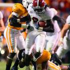 Injuries and double-coverages may have limited Julio Jones' production in recent weeks, but there was no stopping him against the Volunteers. The junior pulled down 12 catches for 221 yards -- both season-highs -- in the Tide's runaway win, which precedes a bye week and Alabama's Nov. 6 showdown with LSU.