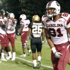 Wideout Tori Gurley (13 catches, 109 yards, 1 TD) was one of three Gamecocks to crack the century mark in rushing or receiving yards against the Commodores (along with Brian Maddox and Alshon Jeffery). South Carolina hosts SEC East rival Tennessee next week.