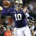 Huskies QB Jake Locker needed only 21 completions to throw for 286 yards and five TDs in his team's thrilling home win. But things won't get any easier for Washington (3-3), as it faces Arizona, Stanford and likely No. 1 Oregon in three successive weeks.