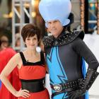 The saucy star of  30 Rock  and the former Ricky Bobby of  Talladega Nights  fame visited New York City's Rockefeller Plaza decked out in their Halloween finery on Oct. 29.