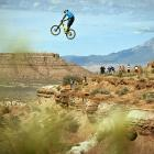 This mountain biker at this event in Virgin, Utah, could only hope that Red Bull really does give you wings.
