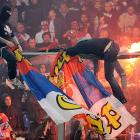 Things got a tad, shall we say, overheated at a Euro 2012 qualifying match between Serbia and Italy at Luigi Ferraris Stadium in Genoa on Oct. 13. Cops arrested 17 nitwits, including the alleged ringleader, who was found hiding in the trunk of a bus used by Serbian fans.