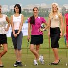 Speaking of puttering, these fine ladies played a round in Sanya, China, before the big pageant.