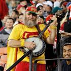 We hear San Francisco's struggling NFL team has adopted the theme from  Deliverance  as its fight song. Here, a command performance in Candlestick Park on Oct. 10.